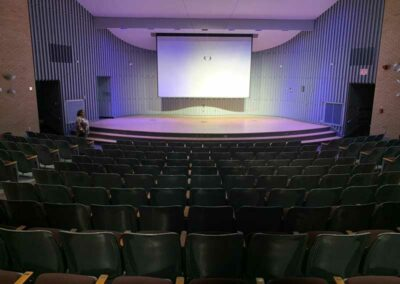 UW-Milwaukee Recital Hall, view from back of house