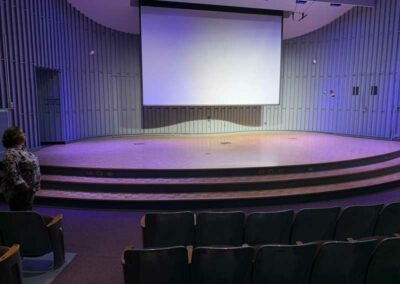 UW-Milwaukee Recital Hall, view from house left