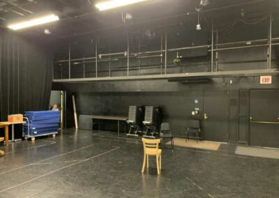 UW-Milwaukee T-6 Studio Theatre, catwalk above stage left and house right