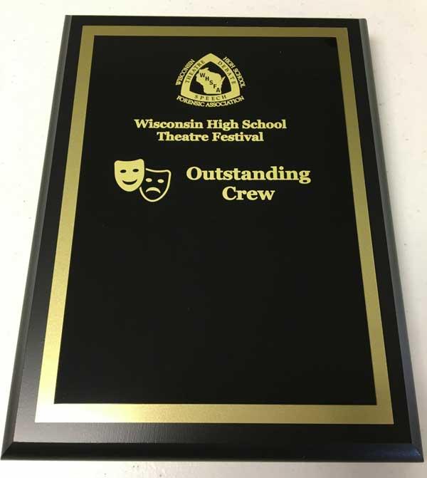 Outstanding Crew plaque