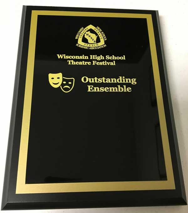Outstanding Ensemble plaque