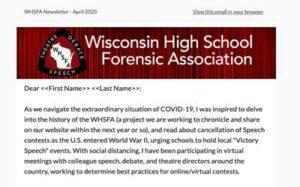 Newsletter Screen Shot
